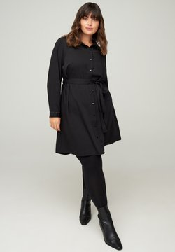 Zizzi - Vestido camisero - black