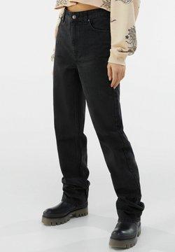 Bershka - Straight leg -farkut - black