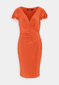Lauren Ralph Lauren - PICA SHORT SLEEVE DAY DRESS - Vestito di maglina - bright hibiscus