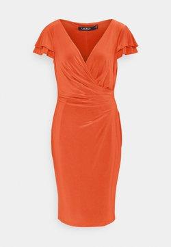 Lauren Ralph Lauren - PICA SHORT SLEEVE DAY DRESS - Trikoomekko - bright hibiscus