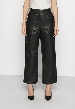 Deadwood - PRESLEY PANTS - Pantalon en cuir - black
