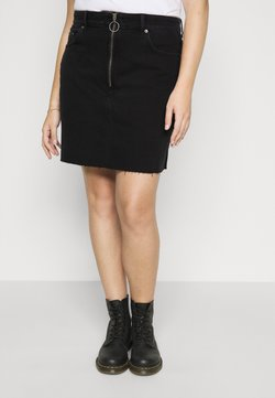 Dr.Denim Plus - ZIPPER SKIRT - Jeansrock - black