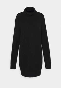Missguided Tall - PREMIUM BOYFRIEND ROLL NECK DRESS - Neulemekko - black