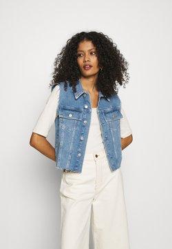 Calvin Klein Jeans - PRIDE CROPPED VEST - Smanicato - denim medium