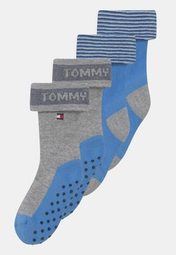 Tommy Hilfiger - SEASONAL FOLD OVER 4 PACK UNISEX - Calcetines - blue