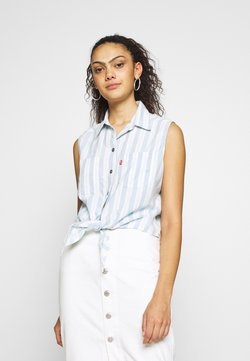 Levi's® - ALINA TIE SHIRT - Hemdbluse - light blue/white