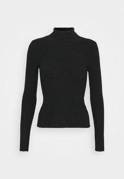 Pieces - PCCRISTA ROLL NECK  - Stickad tröja - black