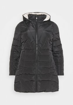 CAPSULE by Simply Be - WATER RESISTANT LONGLINE PADDED COAT WITH SIDE ZIPS - Veste d'hiver - black