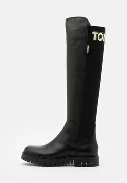 Tommy Jeans - DOUBLE DETAIL LONG BOOT - Overknees - black