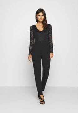 Anna Field - OCCASION - LONG SLEEVES LACE TOP JUMPSUIT - Jumpsuit - black
