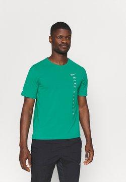 Nike Performance - MILER HYBRID - T-Shirt print - neptune green/silver