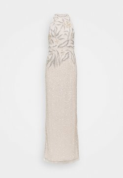 Adrianna Papell - HALTER BEADED COLUMN GOWN - Robe de cocktail - biscotti