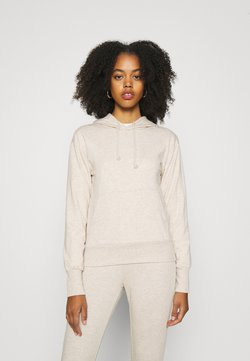 Even&Odd - REGULAR FIT HOODIE WITH FRONT POCKET - Sweat à capuche - beige