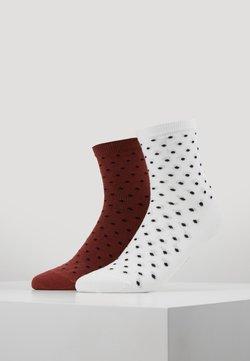 D-XEL - SOCKS 2 PACK - Socken - burnt henna/white