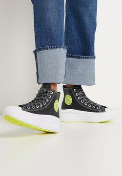 Converse - CHUCK TAYLOR MOVE PLATFORM - Zapatillas altas - black/lemon/white