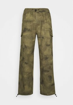 Vintage Supply - TROUSERSWASHED CAMO - Reisitaskuhousut - khaki