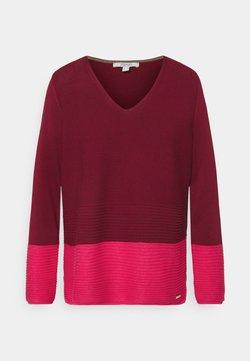 Esprit - CORE VNECK - Pullover - bordeaux red