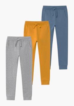 Friboo - BASIC BOYS 3 PACK - Jogginghose - light grey/ochre/blue