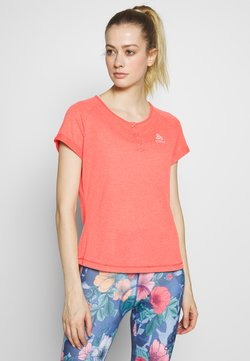 ODLO - CREW NECK ELEMENT - T-Shirt print - hot coral melange