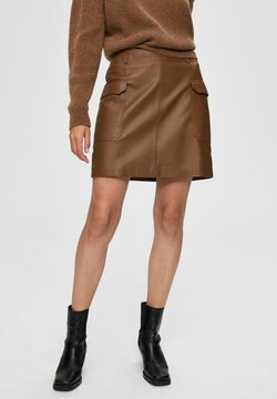 Selected Femme - A-linjekjol - toffee