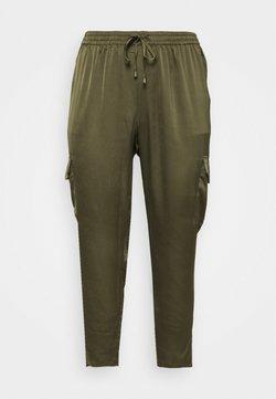 Kaffe Curve - KCZENNA PANTS - Pantalon classique - grape leaf