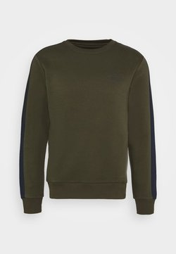 Jack & Jones Performance - JCOZ SPORT CREW NECK - Collegepaita - forest night