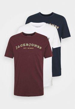 Jack & Jones - JJCROSS TEE 3 PACK - Printtipaita - cloud dancer