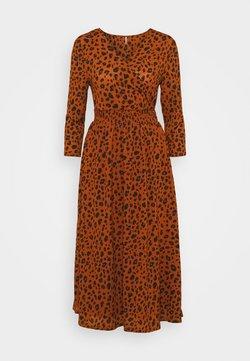 ONLY - ONLPELLA WRAP DRESS - Robe d'été - ginger bread
