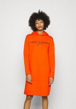 Tommy Hilfiger - HOODIE DRESS - Vapaa-ajan mekko - princeton orange