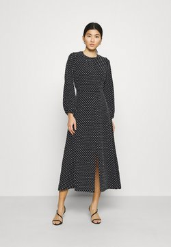 Closet - GATHERED NECK DRESS - Freizeitkleid - black