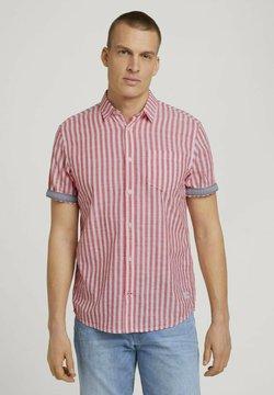 TOM TAILOR - Hemd - red white big stripe