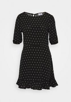 Cotton On - LUCIE SLEEVE MINI DRESS - Day dress - black