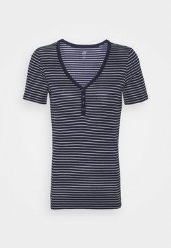 GAP - HENLEY TEE - T-Shirt print - navy / white