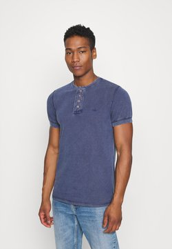 Brave Soul - CAMILLO - T-shirt basic - blue denim