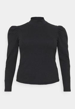 Pieces Curve - PCANNA  - Topper langermet - black