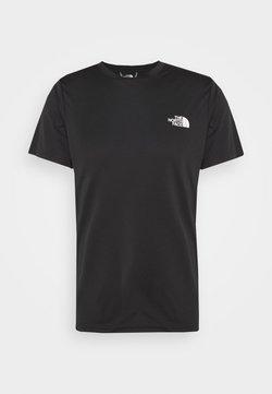 The North Face - REAXION BOX TEE - T-Shirt print - black