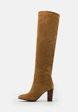 Polo Ralph Lauren - BRIE BOOTS DRESS  - Overknees - tan