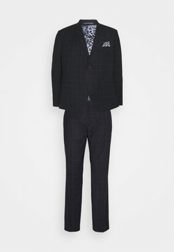 Isaac Dewhirst - WINDOWPANE SUIT PLUS - Garnitur - blue