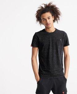 Superdry - VINTAGE  - T-shirt imprimé - vast black space dye