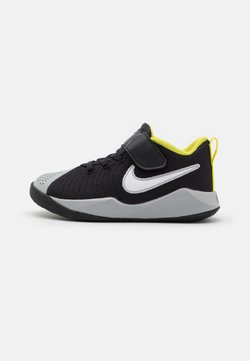 Nike Performance - TEAM HUSTLE QUICK 2 - Koripallokengät - black/white/light smoke grey/high voltage