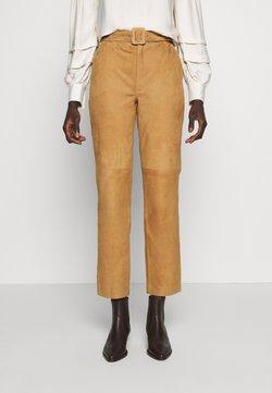 Object Tall - OBJDALINA PANT - Pantalon en cuir - incense