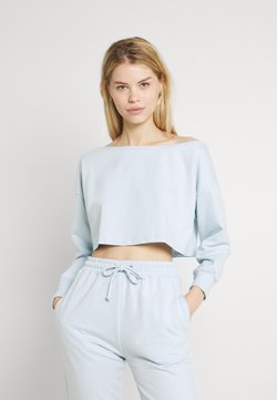 Missguided - OFF THE SHOULDER SET - Sweatshirt - baby blue