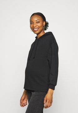 Pieces Maternity - PCMCHILLI HOODIE - Sweatshirt - black
