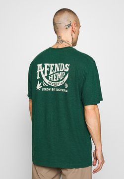 Afends - BUGLE RETRO FIT TEE - T-Shirt print - forest