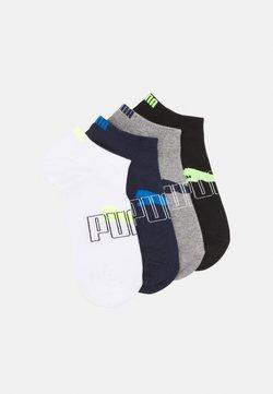 Puma - MEN OUTLINE LOGO SNEAKER 4 PACK - Stopki - black/white/blue combo