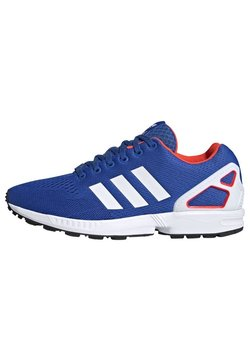 adidas Originals - ZX FLUX - Sneaker low - blue/ftwr white/solar red