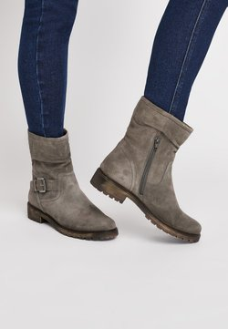 Next - GREY SLOUCH ANKLE BOOTS - Stiefelette - grey