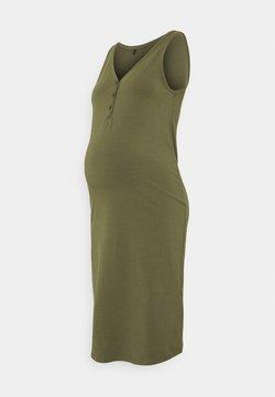 ONLY - OLMSALLY CALF DRESS - Vestito di maglina - olive night