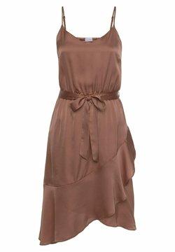 LASCANA - Cocktailkleid/festliches Kleid - nougat