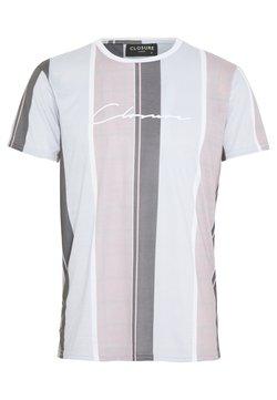 CLOSURE London - TEXTURED STRIPED TEE - T-Shirt print - pink
